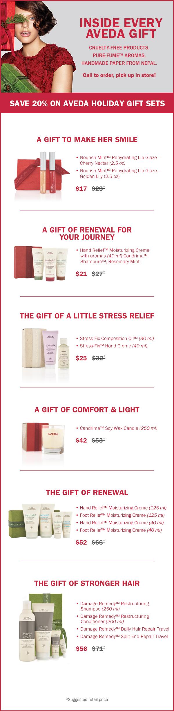 Aveda Holiday Gift Sets